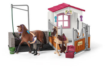 SCHLEICH WASH AREA WITH HORSE STALL