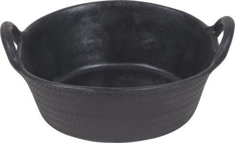 SHOOF RECYCLED RUBBER FEED TUB - 2 HANDLE