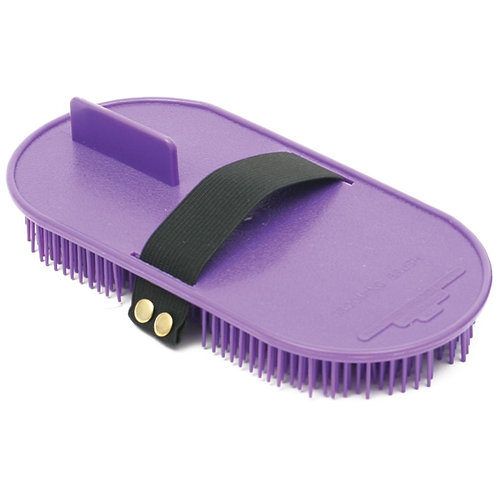 SHOOF GROOMING BRUSH PLASTIC - CURRY COMB