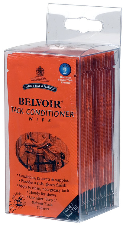 CDM BELVOIR TACK CLEANER - 15 WIPES
