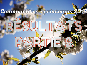 Commandites Partie 2 - Printemps 2017