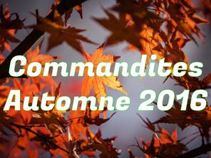 Commandites - Automne 2016