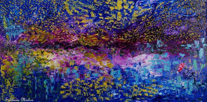 18X36 The Lake at Night