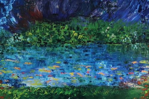 The Koi Pond (24''x48''x 1.5'')
