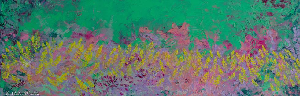 12X36 Yellow Wildflowers
