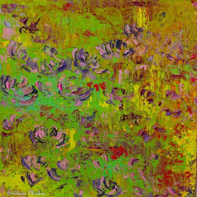 12x12 Purple Flowers
