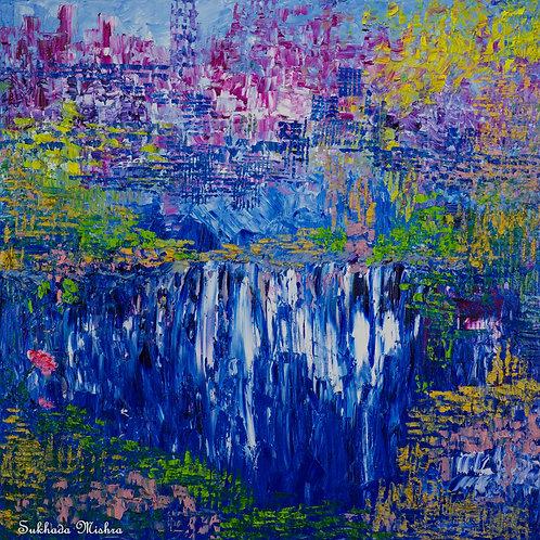 The Waterfall (30''x30''x1.5'')