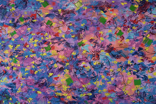 That Feeling of Butterflies in Stomach (36''x60''x1.5'')