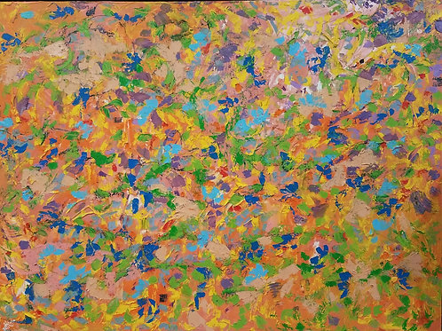 Happiness Comes in Waves (36''x48''x1.5'')