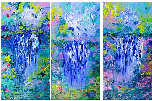 The Waterfall Series (18''x36''x1.5'')