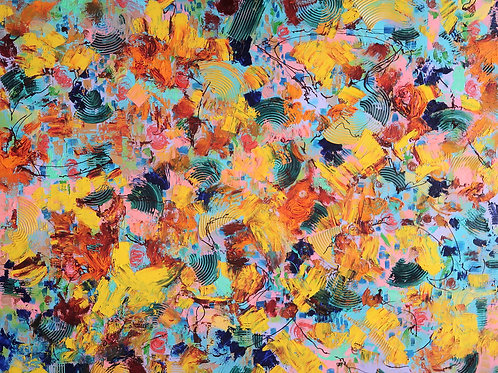 Abstraction Series - Yellow (48''x60''x2'')