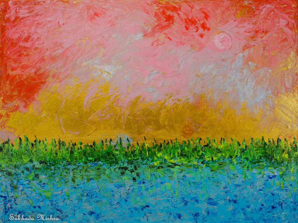 30X40 The Sunset and The Moonrise