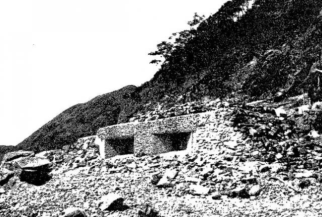 This is an unknown coastal pillbox, likely near Stanley, but note the design and shape as they were usually similar if not exact replicas.
