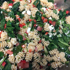Greek vegetable pasta to go with any san