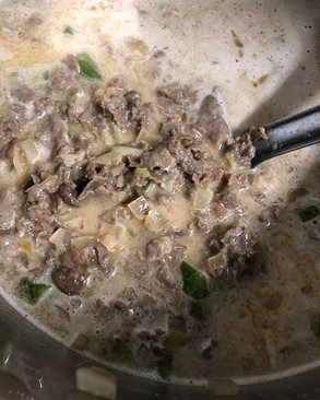 Warm up with some Cheesesteak soup..._Av