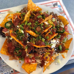 Beef Nacho salad! At the Dugout from Sat