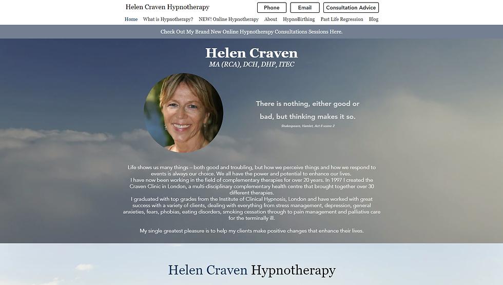 Helen Craven Hypnotherapy