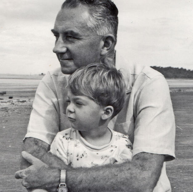 James with son Michael