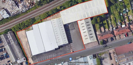 Units 1 & 2 Stour Vale Road Aerial View