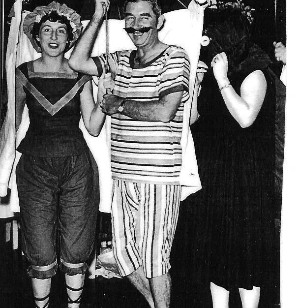 Singapore fancy dress party 1957