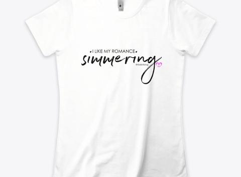 women's boyfriend tee - simmering