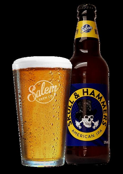 Salem Brew Co. Skull & Hammers Bottle wi