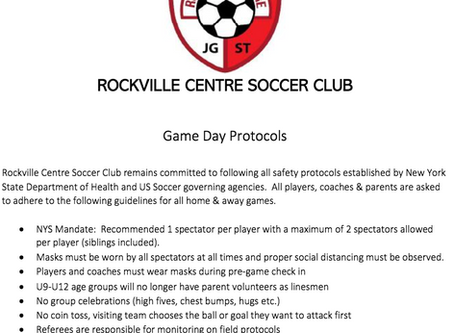 RVC Game Day Protocols