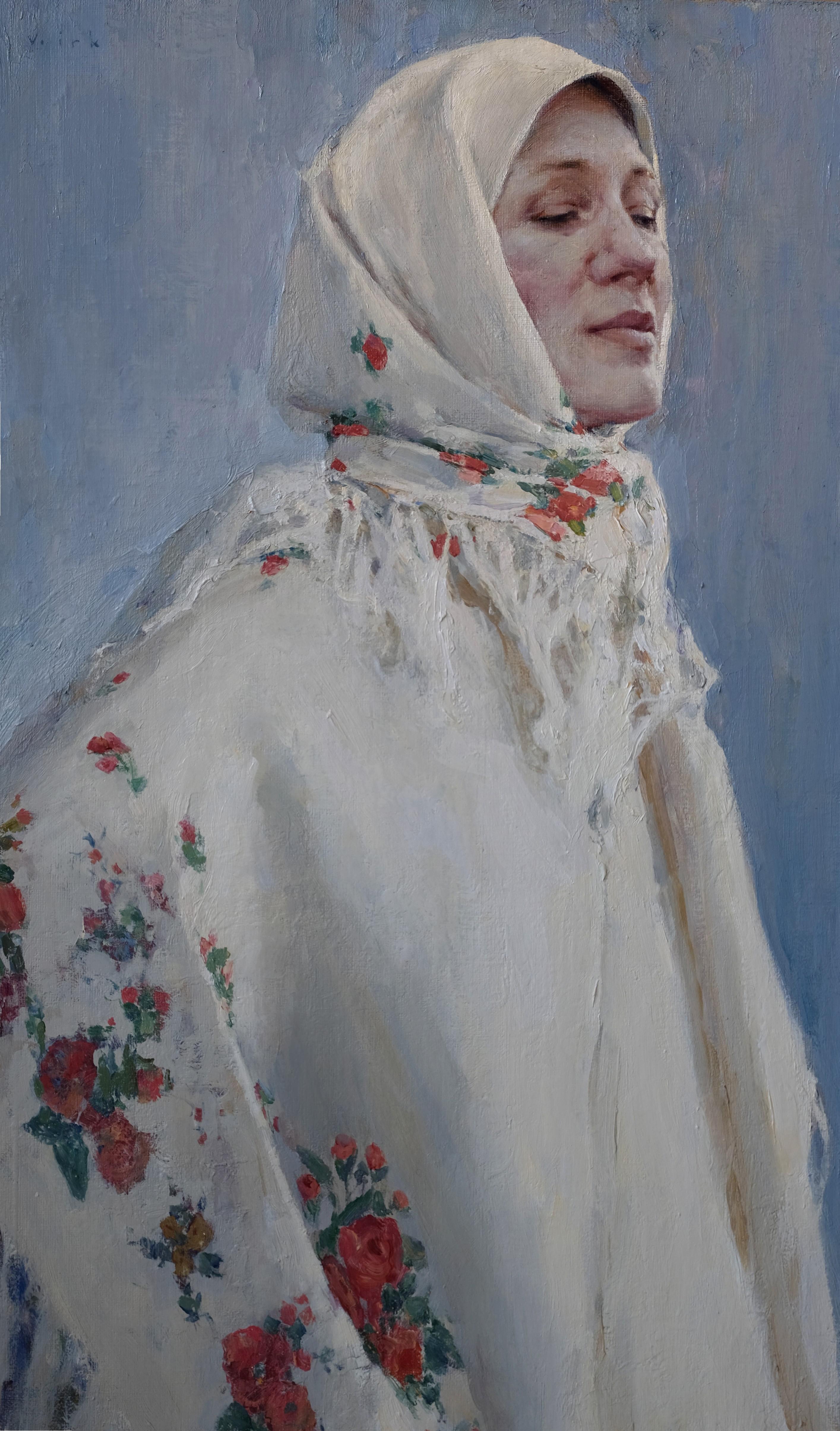 В платке белом