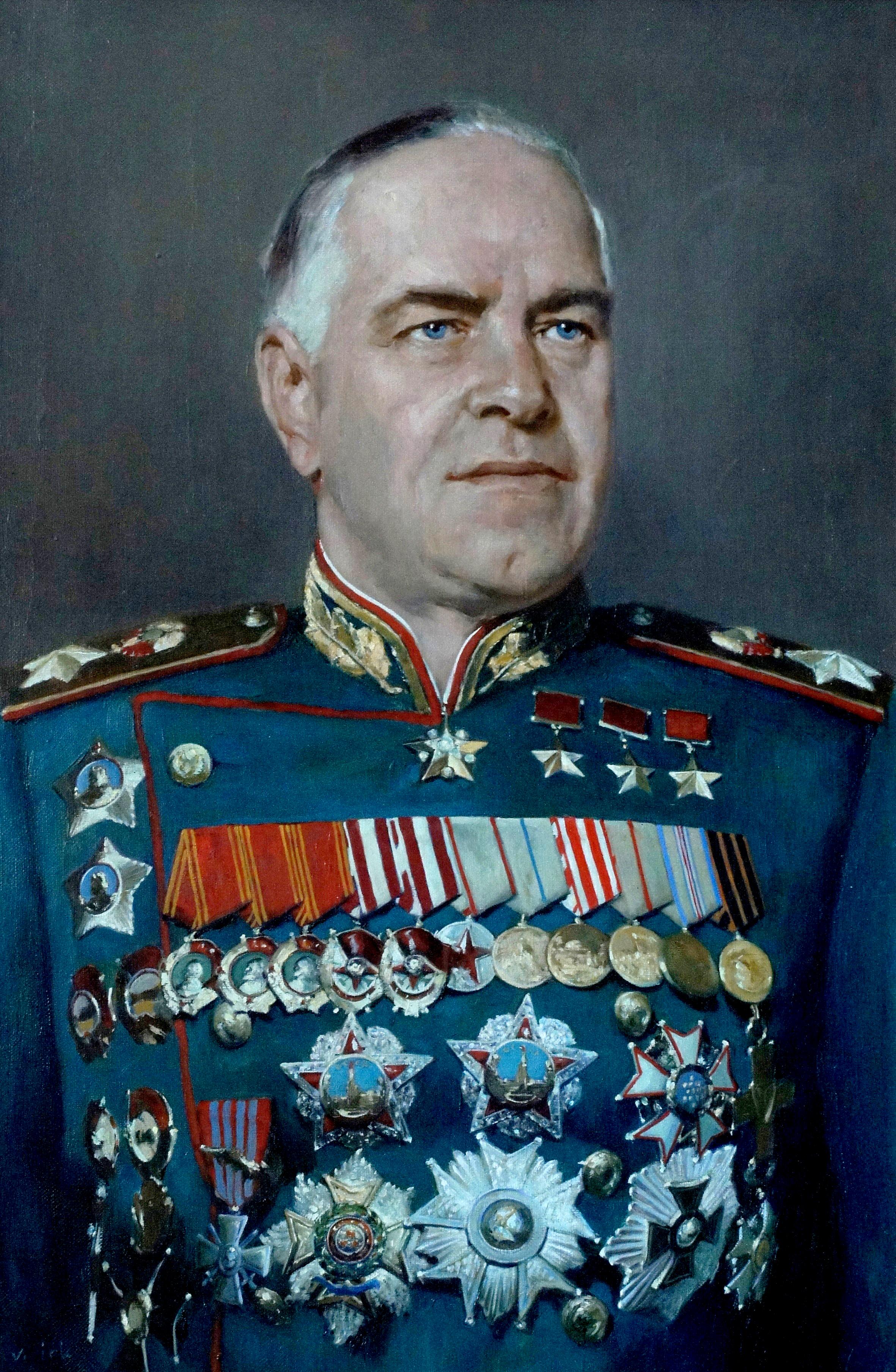 Портрет маршала Г.К. Жукова