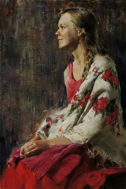 Девушка с платком