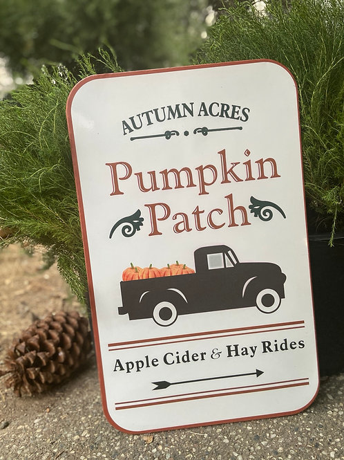 Pumpkin Patch & Apple Cider Sign