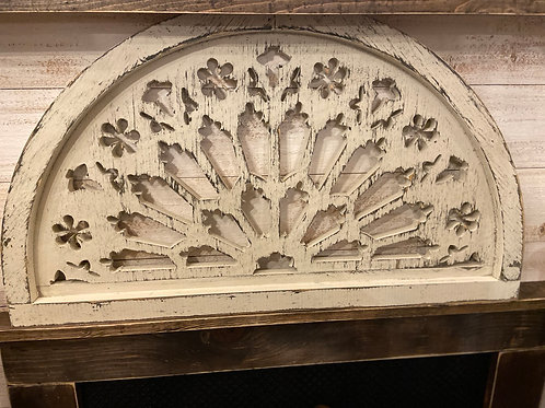 Wood Carved Clover Arch