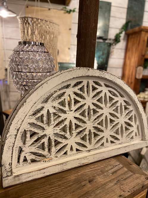 Wood Carved Mid Century Arch