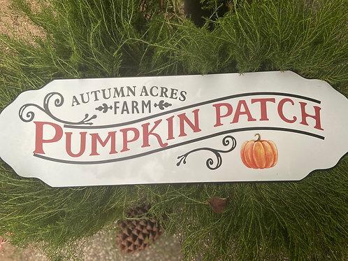 Autumn Farm Pumpkin Patch Sign