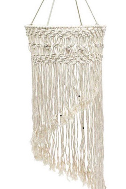 Amazing Macrame Mobile - use as a hanging lampshade or simply on its own