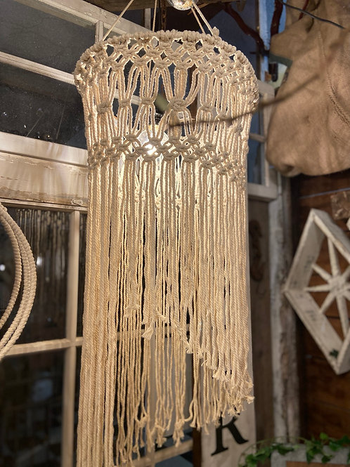 "40"" Long Macrame Mobile  (light not included)"