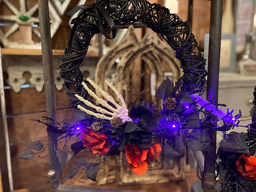 Gothic Light Up Wreath