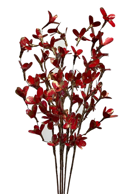 5 Palm Lily Red/Gold Bouquet made by Sola Woods