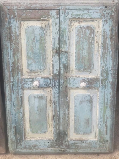 2 Pieces Salvaged Shutters - Blue