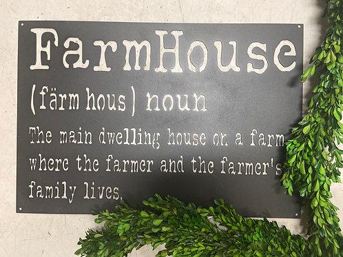 """""""Farm House"""" definition sign"""
