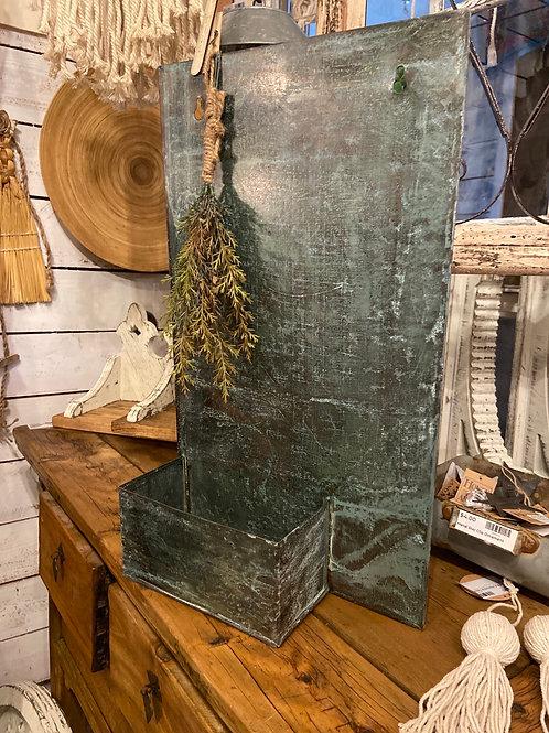 Rectangular Cool Zinc Wall Planter.