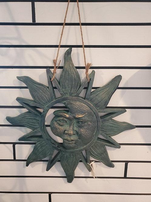 "Hanging Sun - approx 22"" round (30"" h w/hanger)"
