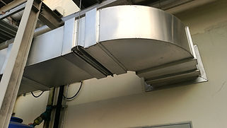 commercial air duct system for industria