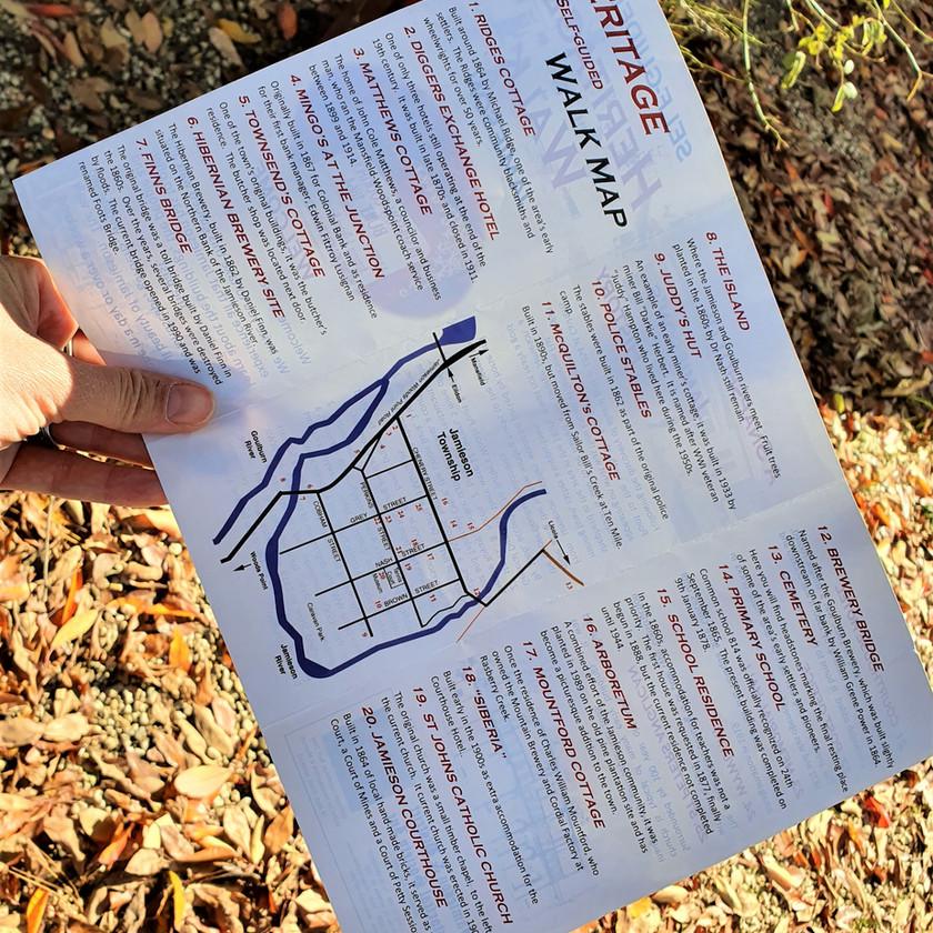 heritage walk map local history tourist information