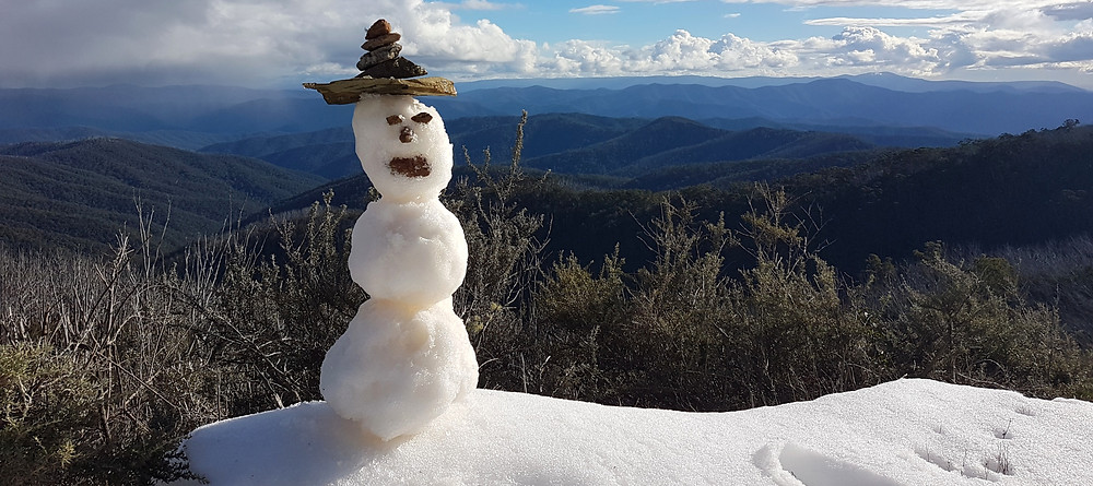 Snow man on Mt Skene 4x4 trip high country victoria