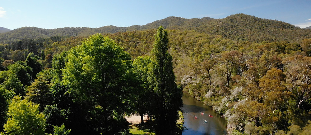 Group kayaking Victoria High Country close to melbourne