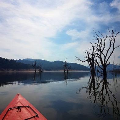 Kayaking on Lake Eildon