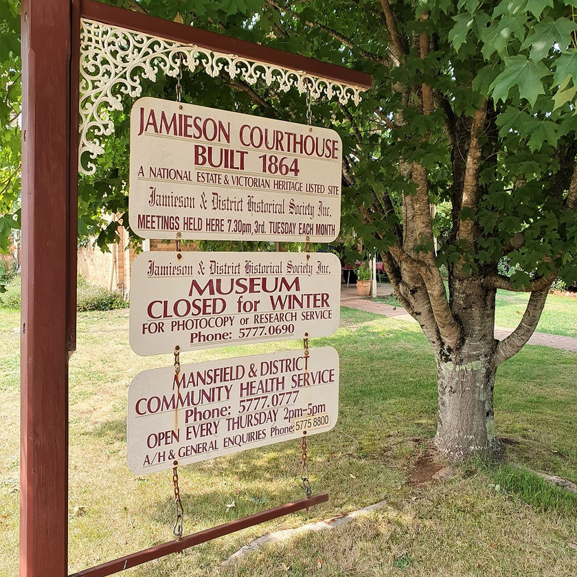 old courthouse museum jamieson historic society gold history