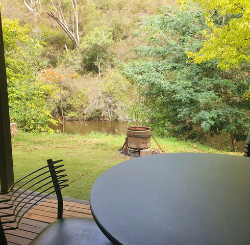 Jamieson River from back deck