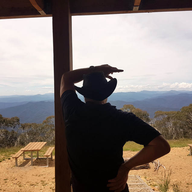 View over the high country from mount terrible hut